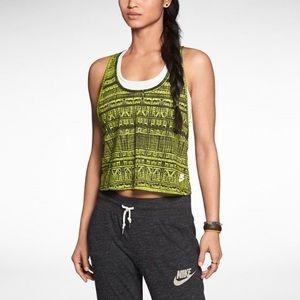 Nike pattern crop tank